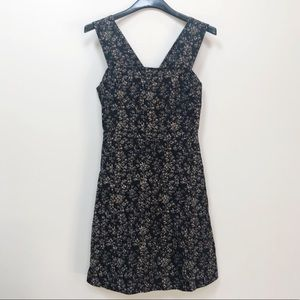 NWT GAP Black Fit and Flare Linen Dress